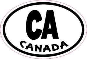Oval CA Canada sticker