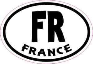 Oval FR France sticker