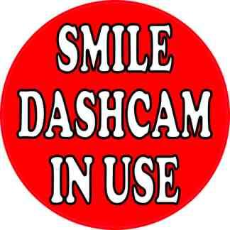 dashboard camera sticker