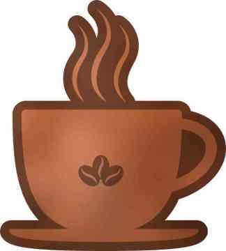 Coffee Cup Sticker