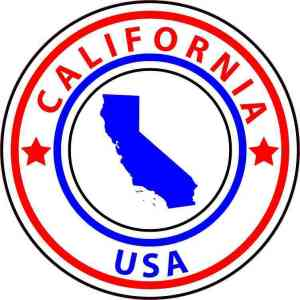 State Circle California Sticker