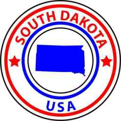 south dakota state circle sticker
