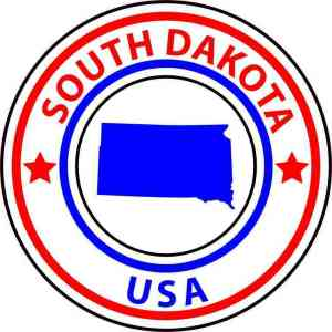south dakota state circle sticker