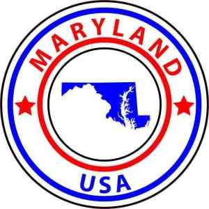 Circle Maryland State Sticker