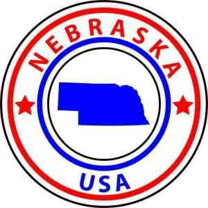 circle nebraska state sticker