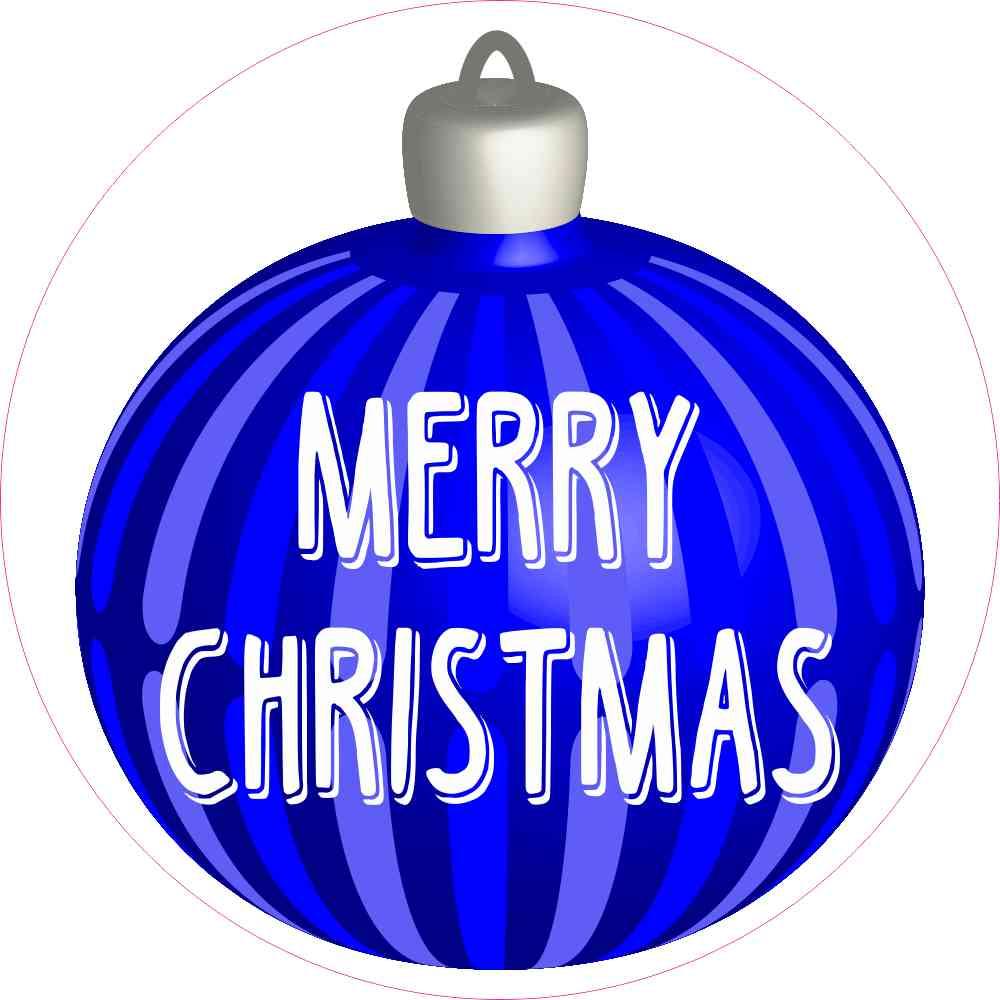 Merry Christmas Ornament Sticker