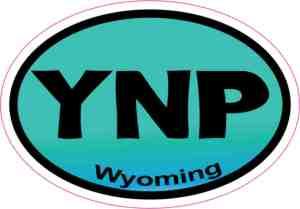Turquoise YNP Wyoming Sticker