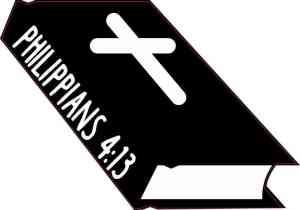 Bible Philippians 4:13 Sticker