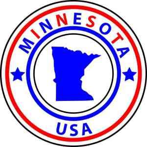 State Circle Minnesota Sticker