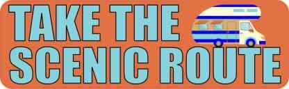 Take the Scenic Route Travel Bumper Sticker
