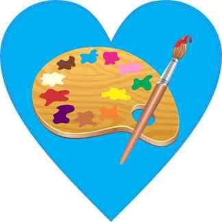 Heart Art Sticker