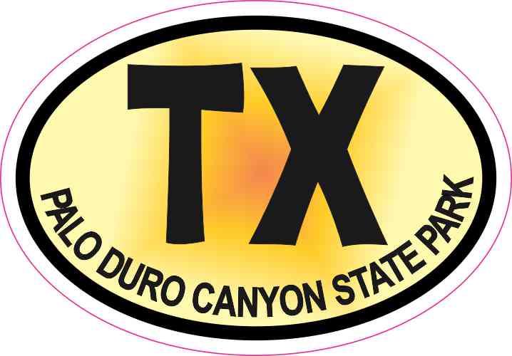 Palo Duro Canyon Texas Sticker