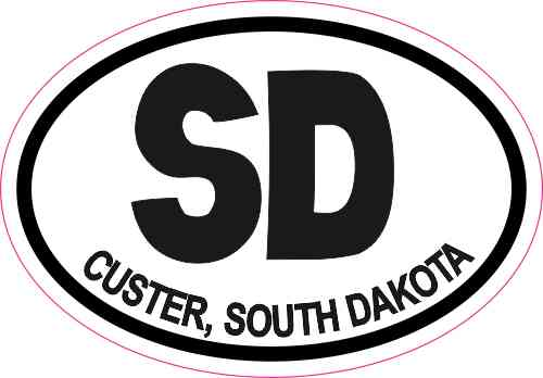 Oval SD Custer South Dakota Sticker