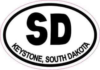 Oval SD Keystone South Dakota Sticker