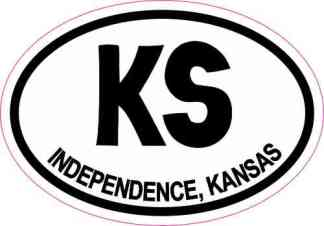 Oval KS Independence Kansas Sticker