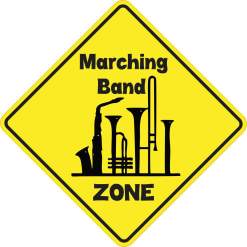 Marching Band Zone Sticker