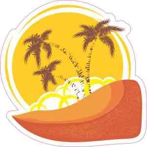 Orange Beach Sunset Sticker
