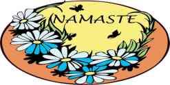 Orange Namaste Flower Sticker