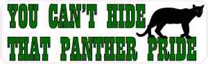 panther pride bumper sticker
