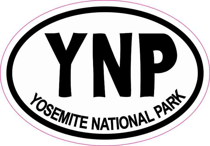 3 x 2 Oval YNP Yosemite National Park Sticker Travel Decal