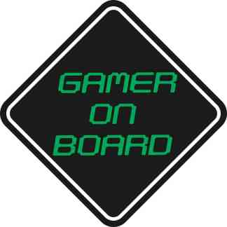 Gamer On Board Sticker