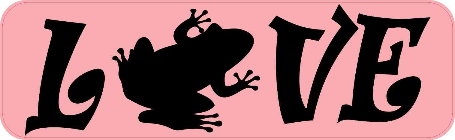 Love Frog Bumper Sticker