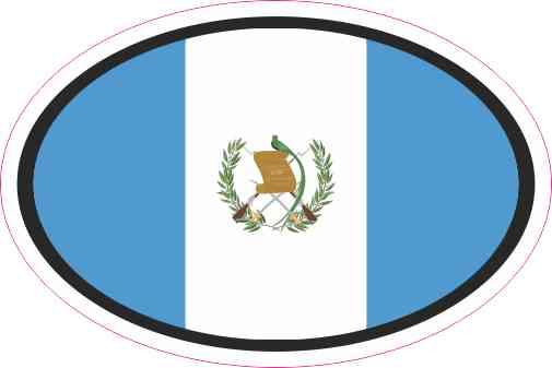 Oval Guatemala Flag Sticker