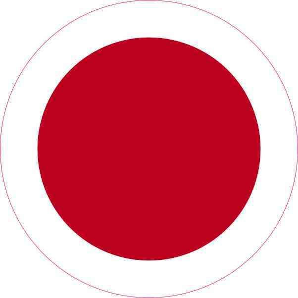 Round japan flag sticker