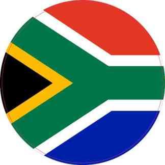 Round South Africa Flag Sticker