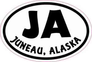 Oval JA Juneau Alaska Sticker
