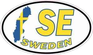 Oval SE Sweden Sticker