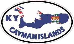 Oval KY Cayman Islands Sticker