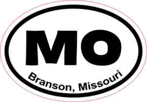 Oval Branson Missouri Sticker