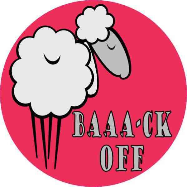 Pink Baaa-ck Off Sheep Bumper Sticker