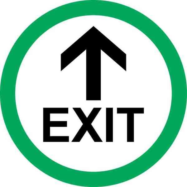 Green Circle Exit Sticker