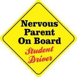 Nervous Parent On Board Magnet