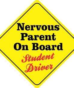 Nervous Parent On Board Magnet