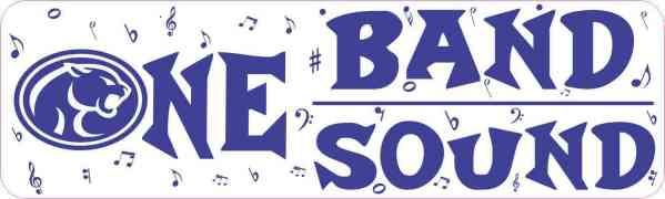 Buna Cougar One Band One Sound Bumper Sticker