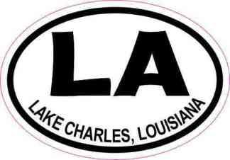 Oval LA Lake Charles Louisiana Sticker