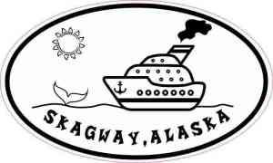 Oval Cruise Ship Skagway Alaska Sticker