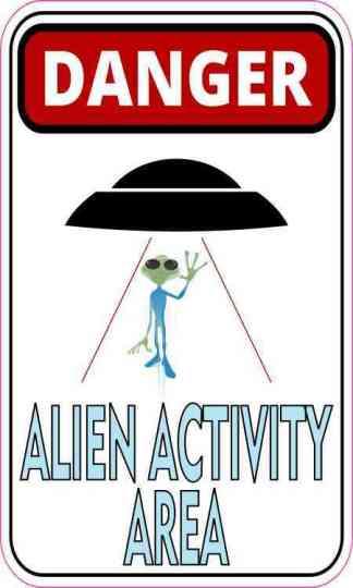 Danger Alien Activity Area Magnet