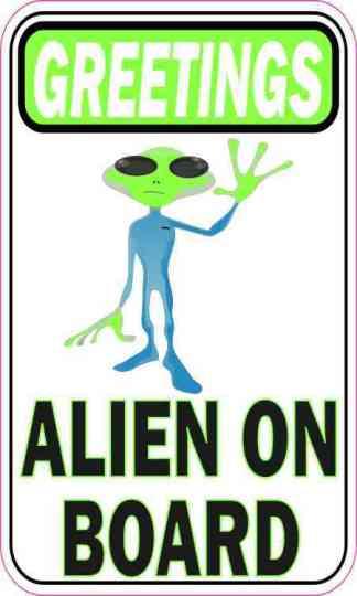 Greetings Alien on Board Magnet