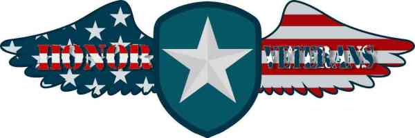 Winged Shield Honor Veterans Sticker