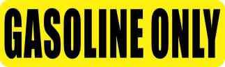 Gasoline Only Sticker