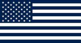 Blue and White American Flag Magnet