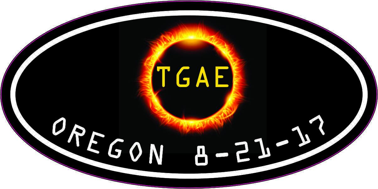 Oval TGAE Oregon Eclipse Sticker