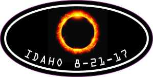 Oval Idaho Eclipse Sticker
