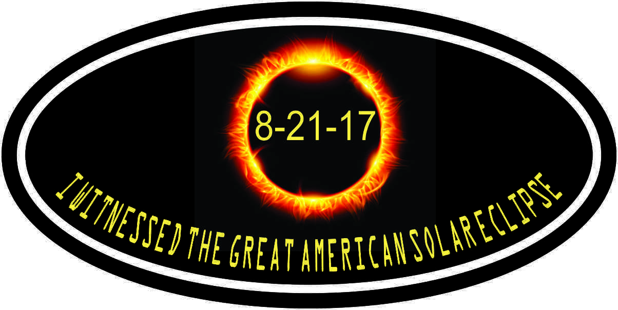 Oval I Witnessed the Great American Total Solar Eclipse Sticker