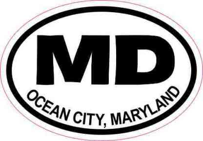Oval MD Ocean City Maryland Sticker