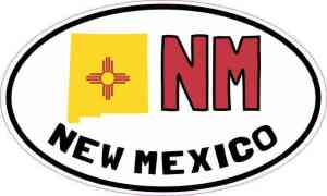 Oval NM New Mexico Sticker